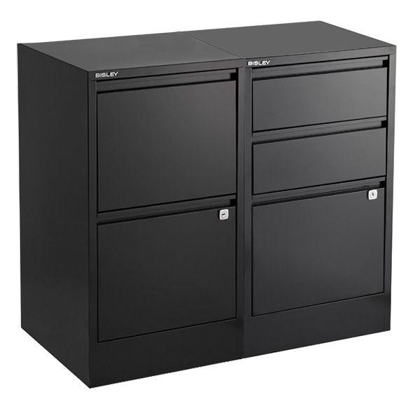 Bisley Black 2 3 Drawer Locking Filing Cabinets Filing Cabinet Drawers Cabinet