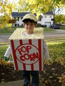 I think it would be awesome to have one of my kids do this! How appropriate given my husbands love for popcorn! halloween costumes DIY kids