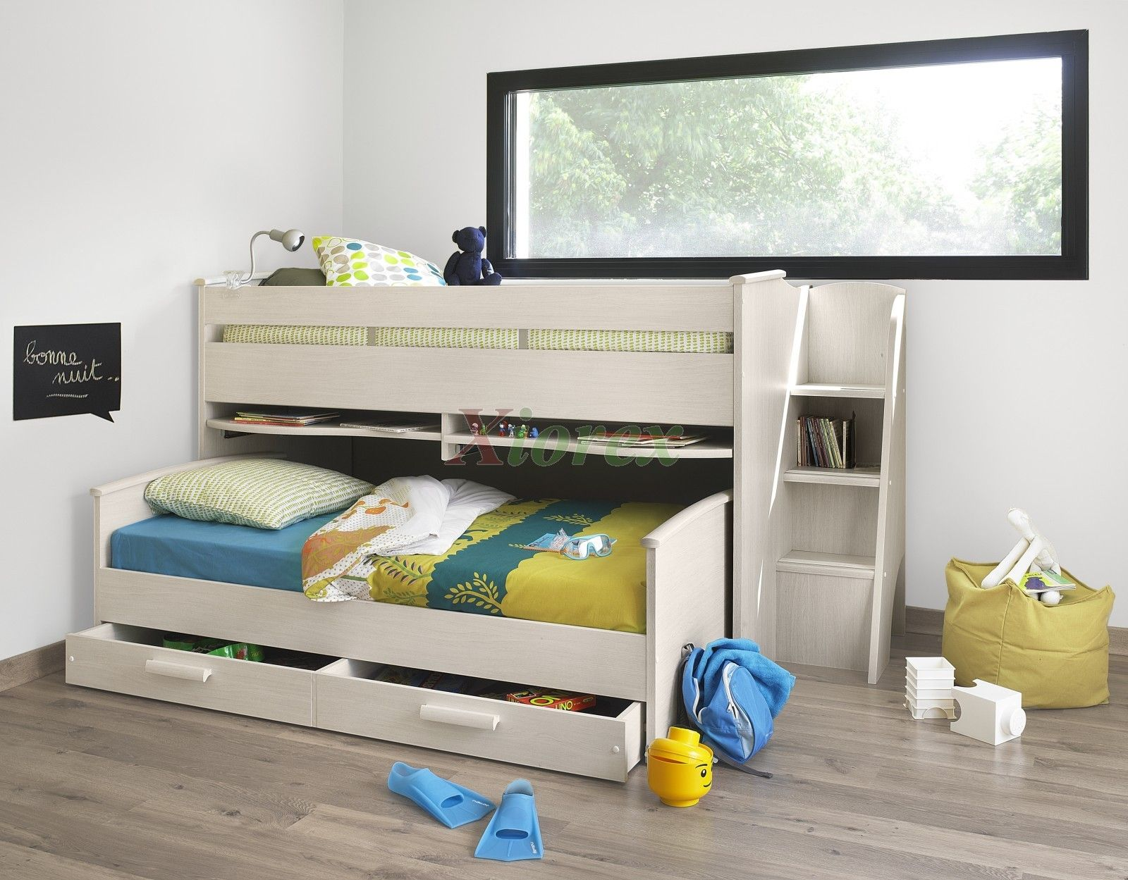 This Cabin Bed Comes With A European Mid Sleeper Single Over 2 Sliding Double Desk Top