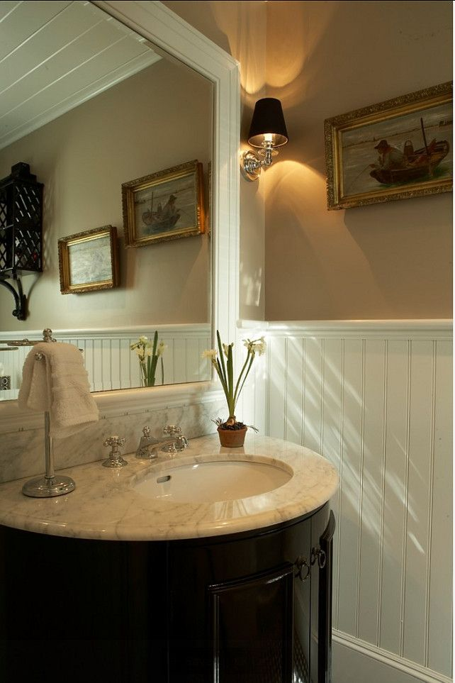 Powder Room. Powder Room Ideas. Traditional Interiors. The vanity ...