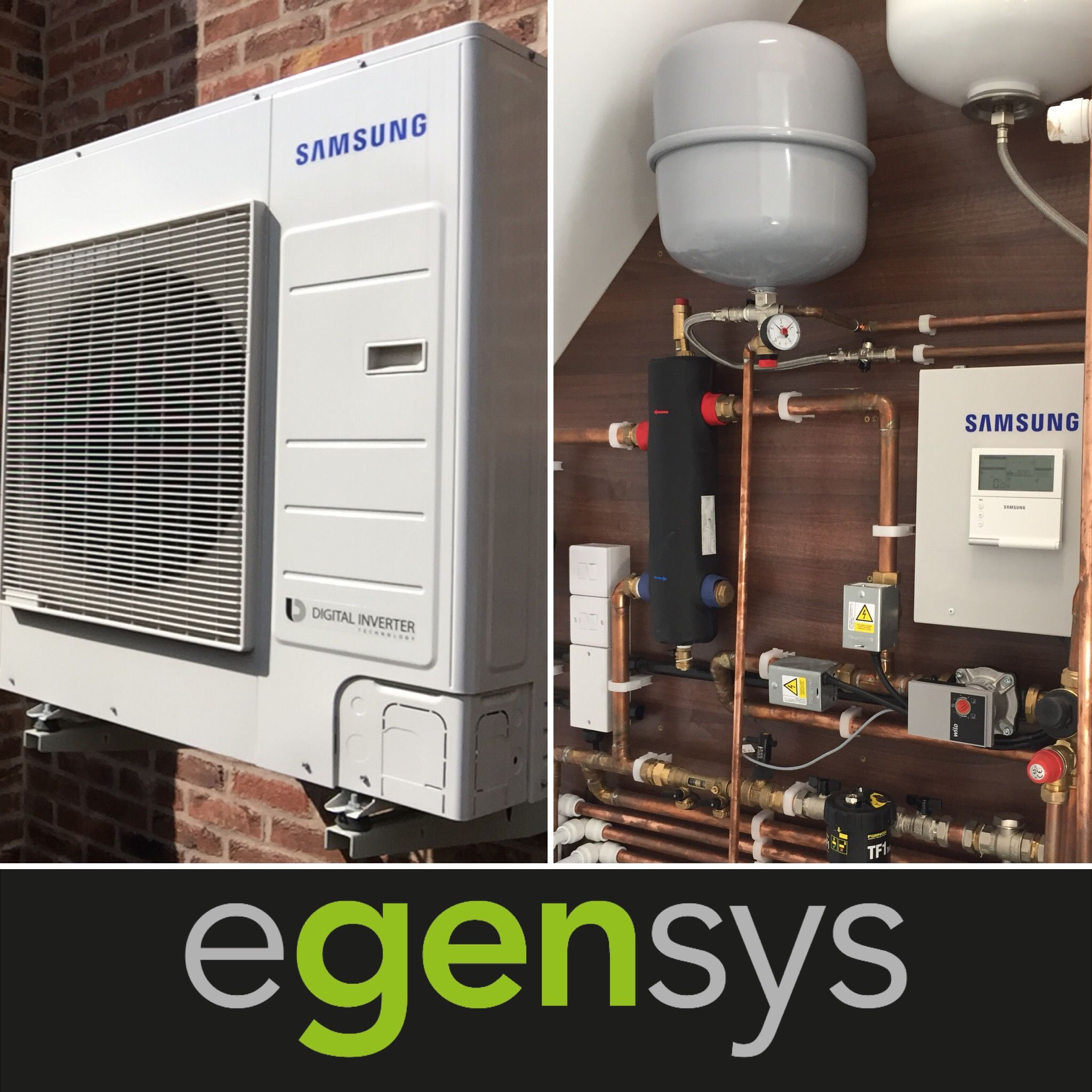 9kW Samsung AE090JXYDEHEU Air Source Heat Pump with a