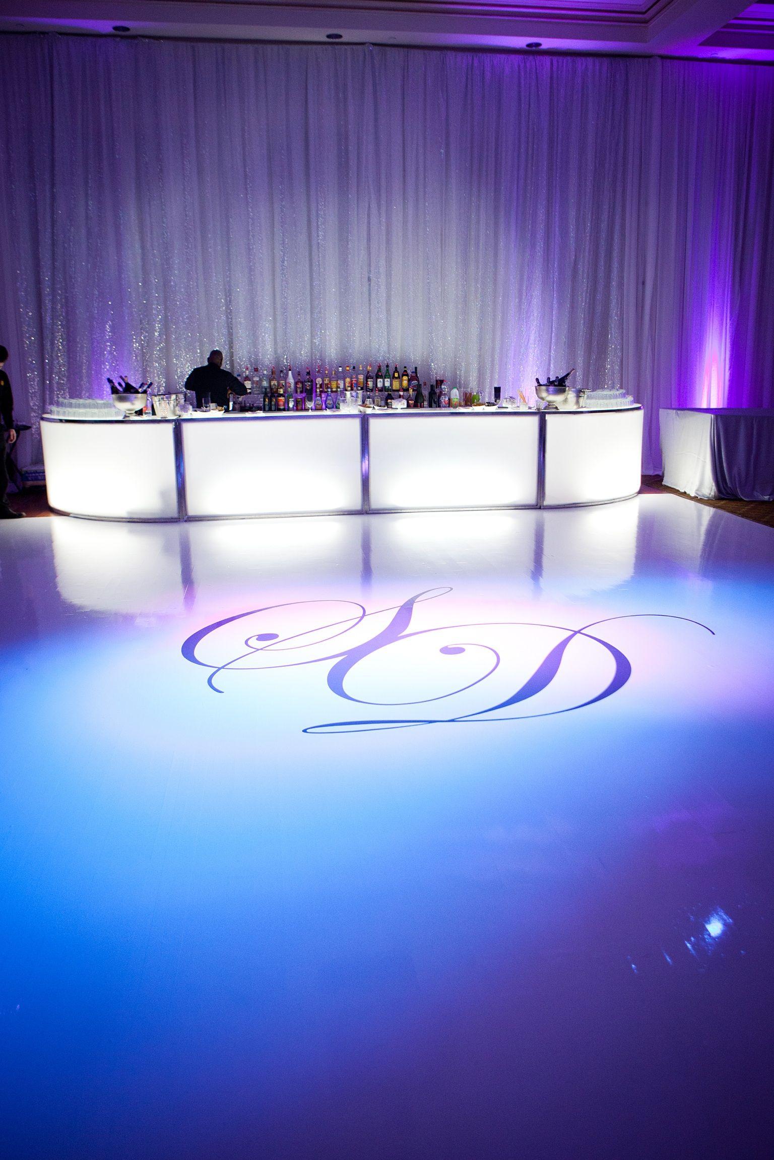 Love The Pipe Drape And White Dance Floor Wedding