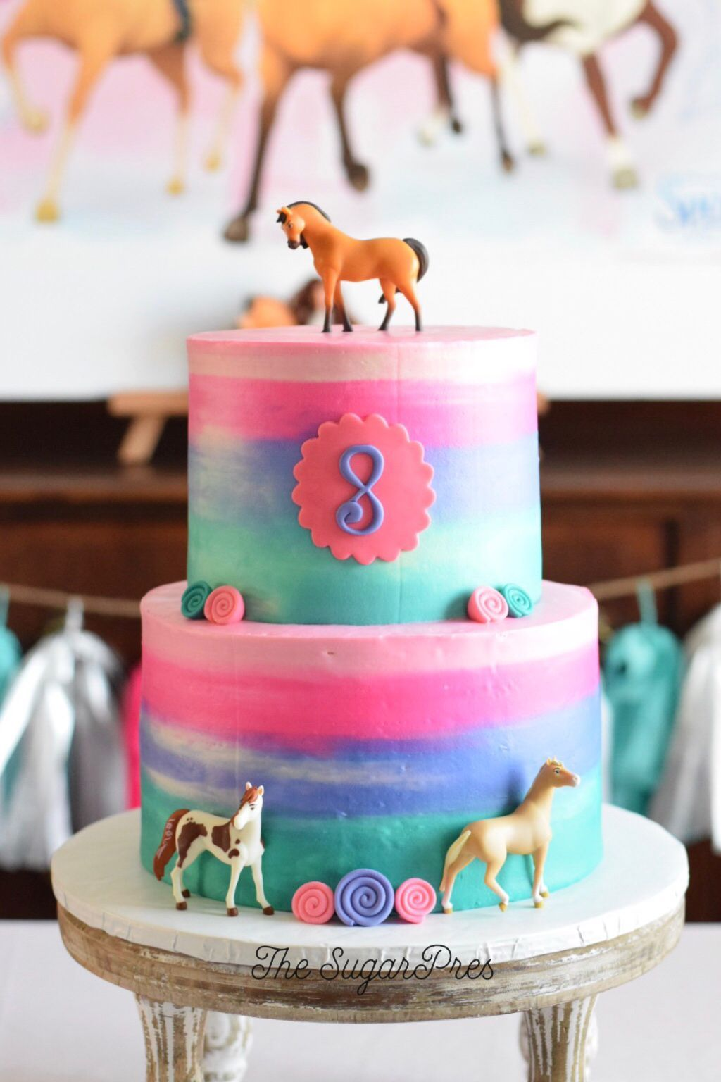 Cool Spirit Riding Free Birthday Cake Dogumgunupartileri In 2020 Personalised Birthday Cards Bromeletsinfo