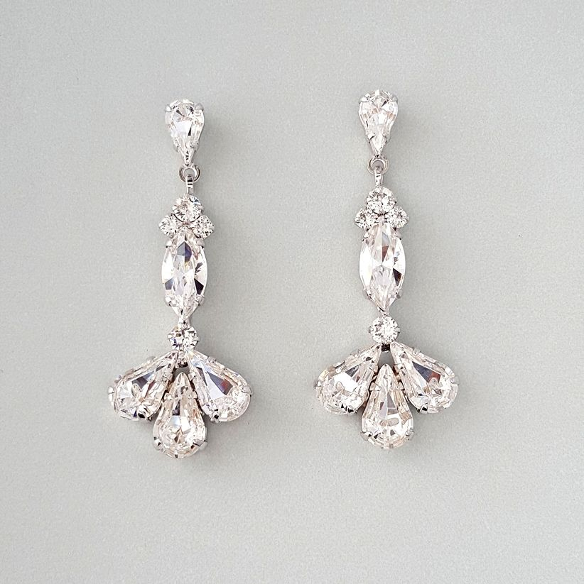 6ef0554b79d4f Slim and sophisticated - Swarovski Crystal Vintage Style Earrings in a glam  silhouette.