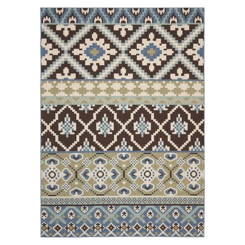 Safavieh Lana Indoor Outdoor Area Rug Chocolate Blue Brown Blue