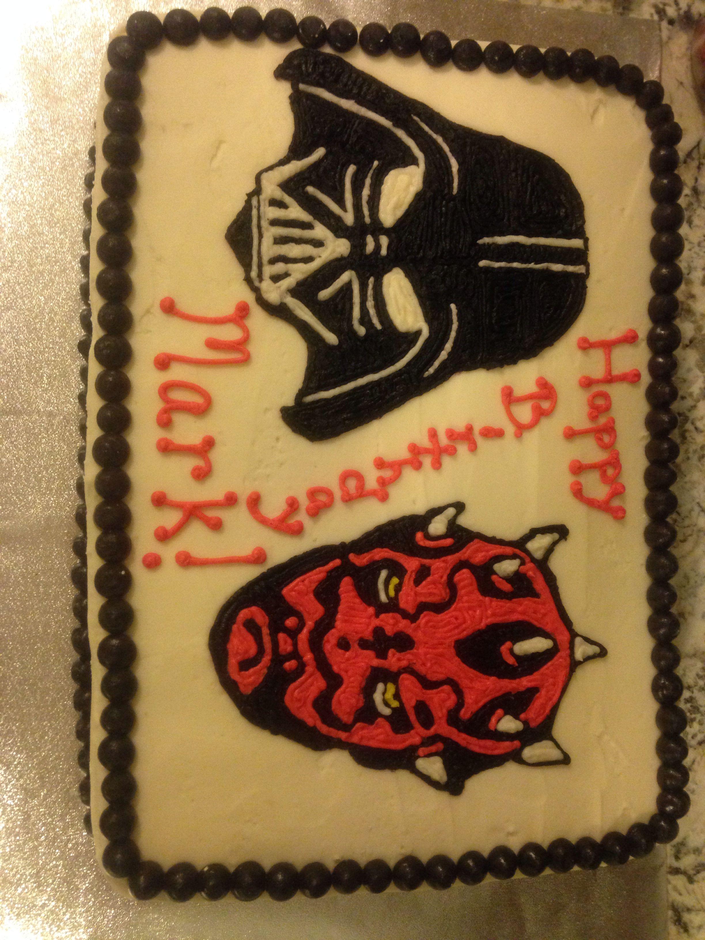 Darth Vader And Darth Maul Cake My Creations Pinterest