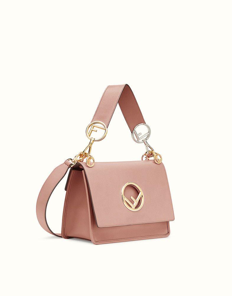 FENDI KAN I F - Pink leather bag - view 2 detail 46debc66d8a56