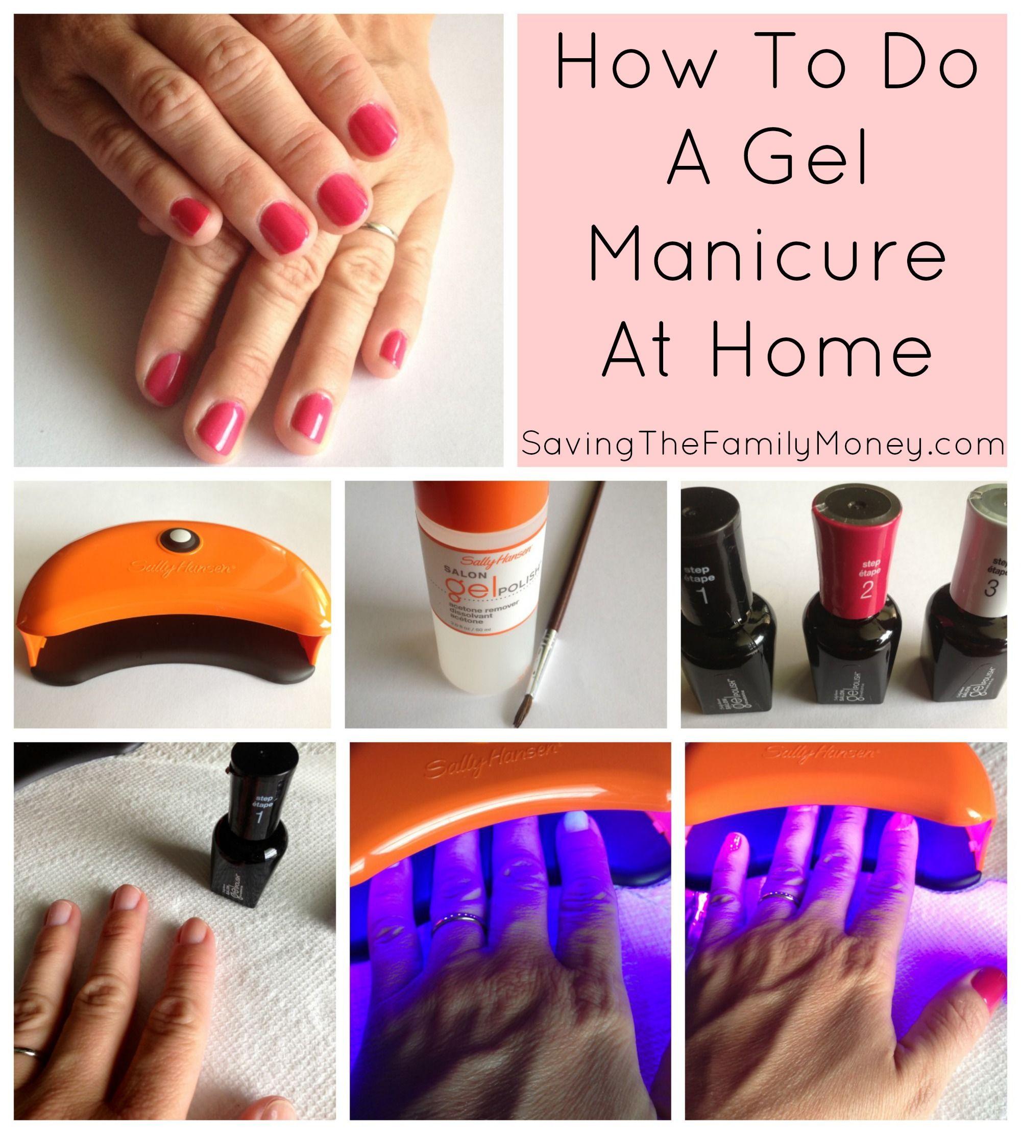 How To Do A Gel Manicure At Home Via SavingTheFamilyMoney