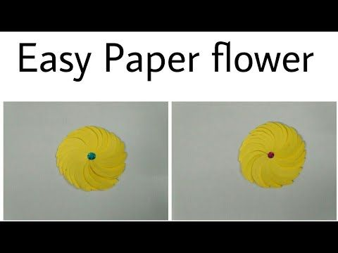 Easy paper flowerhow to make simple paper flowercraft activity for easy paper flowerhow to make simple paper flowercraft activity for kidsdecoration flower youtube mightylinksfo