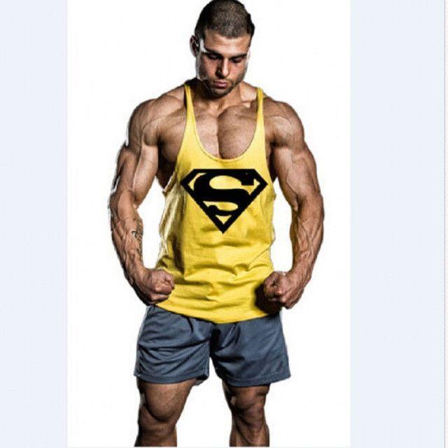 55873043a6bf5 2017 NPC A fitness Bodybuilding Racerback Tank Tops Men Fitness Sleeveless  Vest Cotton Singlets Gasp Muscle Shirt