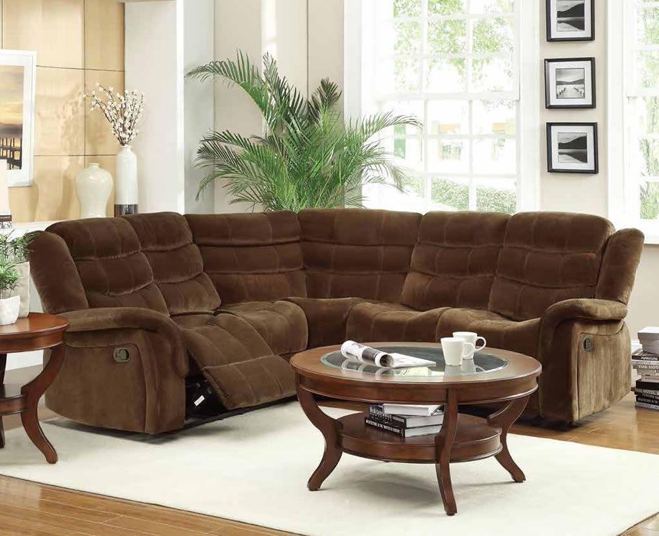 Amazon mocha fabric reclining sectional sofa sectional