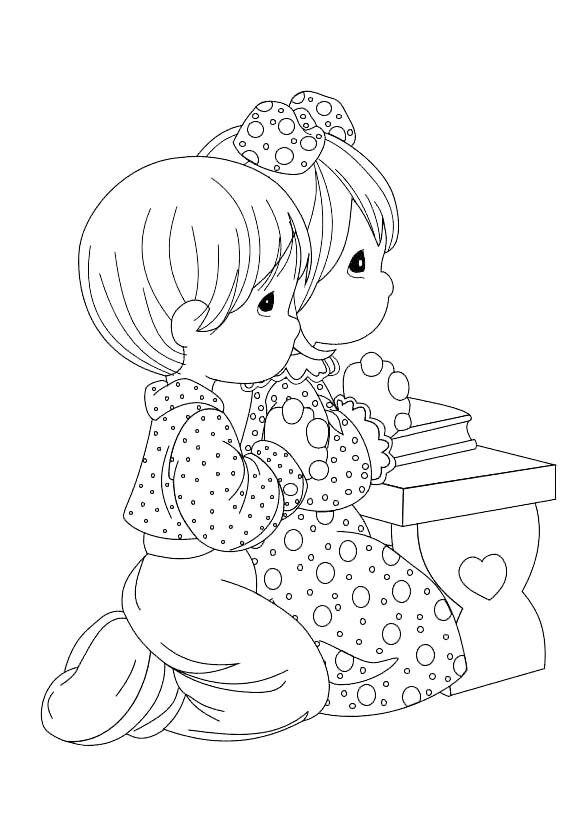 Praying Precious Moments Coloring Pages, Coloring Books, Coloring Pages