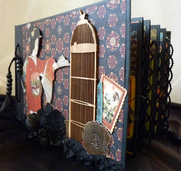 Graphic 45 Bird Song Mini Album With Bead Binding (With