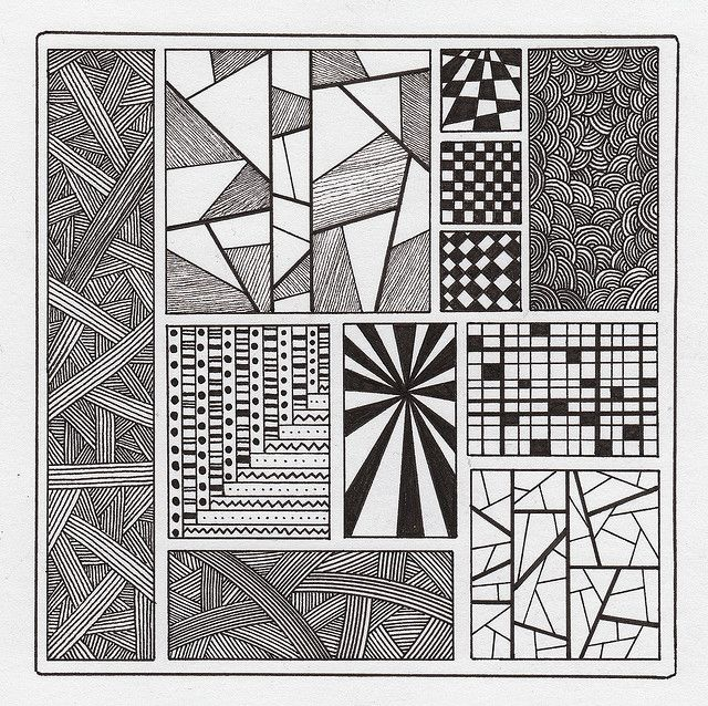 Square Zentangles Zentangle Samplers A Gallery On