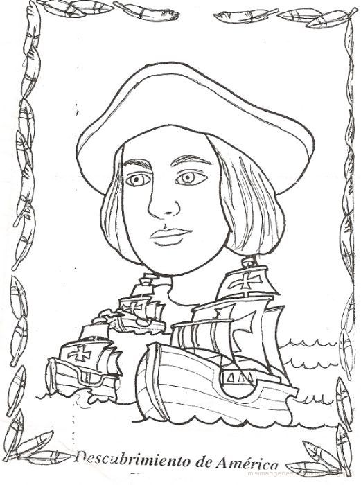 Barcos De Cristobal Colon Dibujos