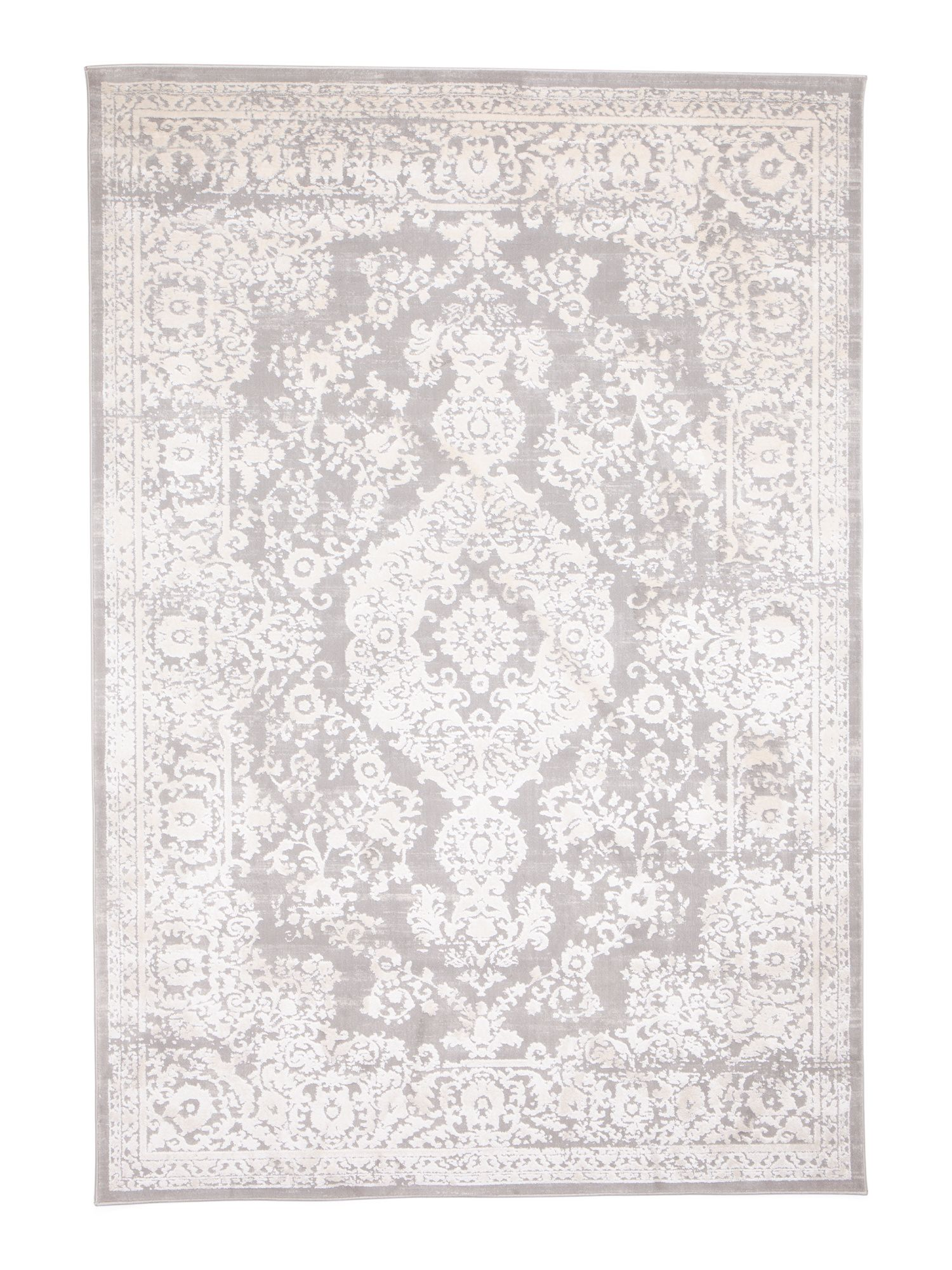 Made In Turkey Textured Hi Low Transitional Medallion Rug Rugs