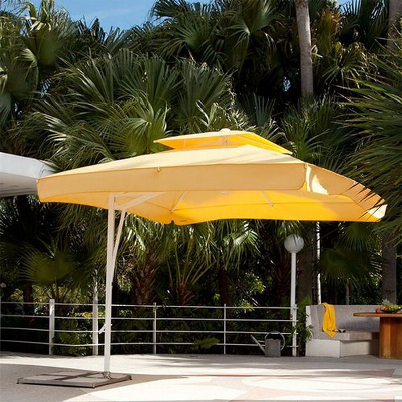 Pleasing Yellow Patio Umbrella Together With Offset Modern Chicago Home Infatuation
