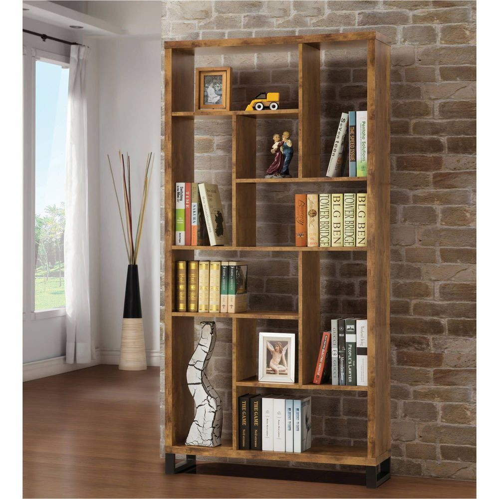 Icymi modern industrial bookcase wooden contemporary furniture
