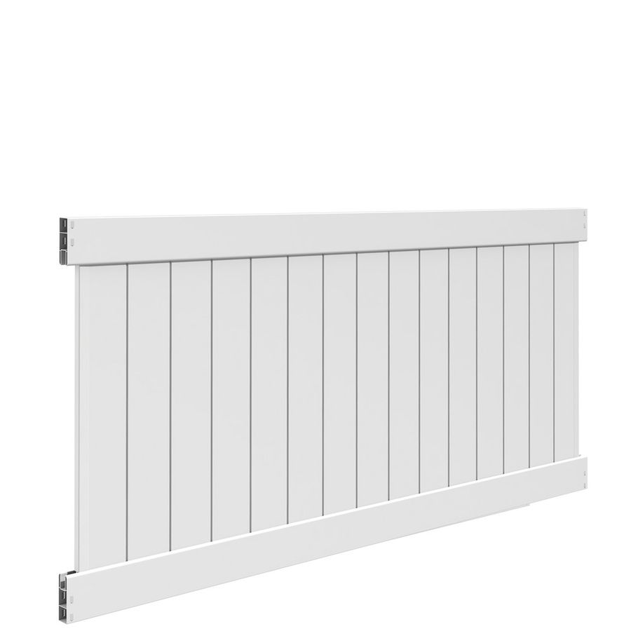 Freedom Ready To Assemble Bolton White Vinyl Privacy Fence Panel