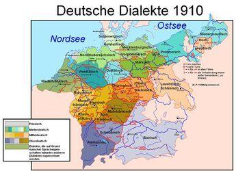 deutschland 1910 landkarte Deutsche Dialekte 1910 | Deutsche dialekte, Deutsche, Landkarte