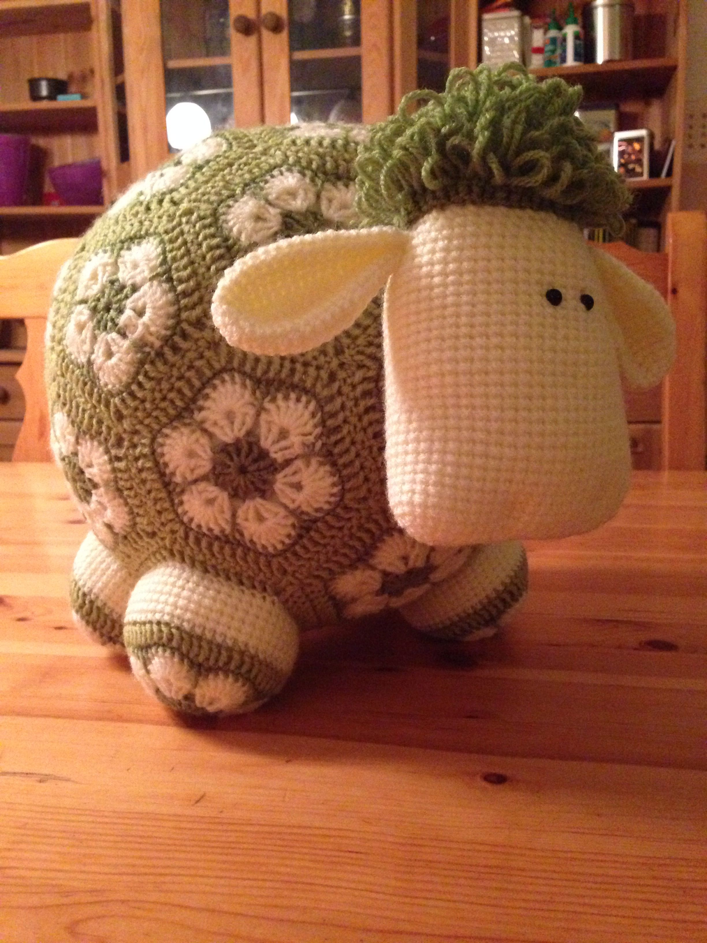 African Flower Amigurumi : African flower sheep, pattern by me crochet animals and ...