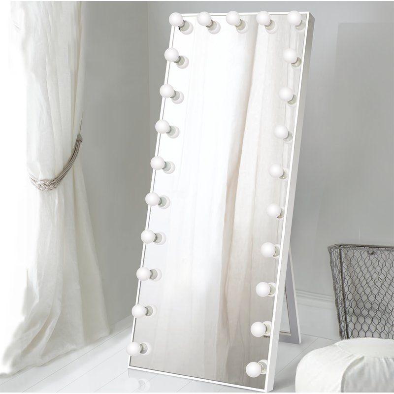 Laleia Lighted Full Length Mirror Full Length Mirror Floor