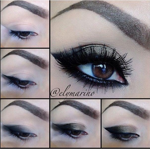 Pretty smoky eye via Makeupgeek