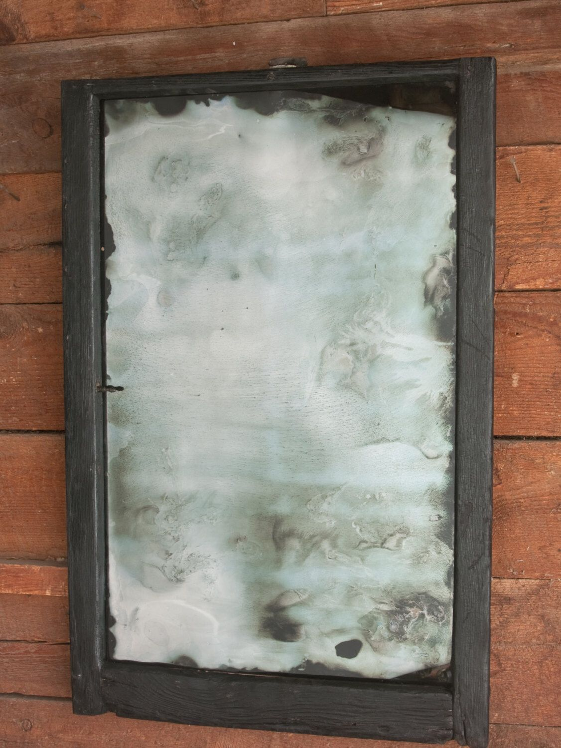 Antiqued Silver Mirror with Shou Sugi Ban Wood Frame, Antiqued Silver Wall Mirror by AlchemyInGlass on Etsy https://www.etsy.com/listing/294341927/antiqued-silver-mirror-with-shou-sugi