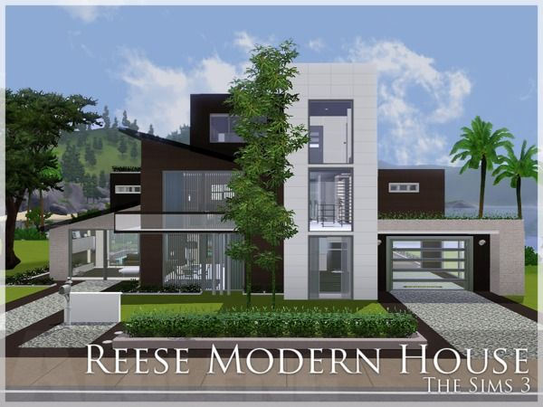 Reese Beach House By Aloleng Sims 3 Downloads Cc Caboodle Sims House Plans Sims 4 House Design Sims House
