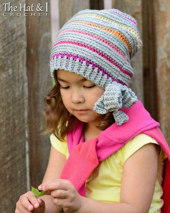 CROCHET PATTERN - Girls Night Out - crochet slouchy hat pattern ...