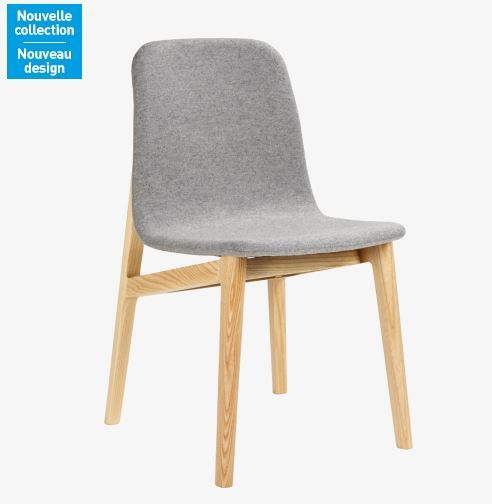 My Mia Chaise grise en frêne massif et feutre prix Habitat 27920