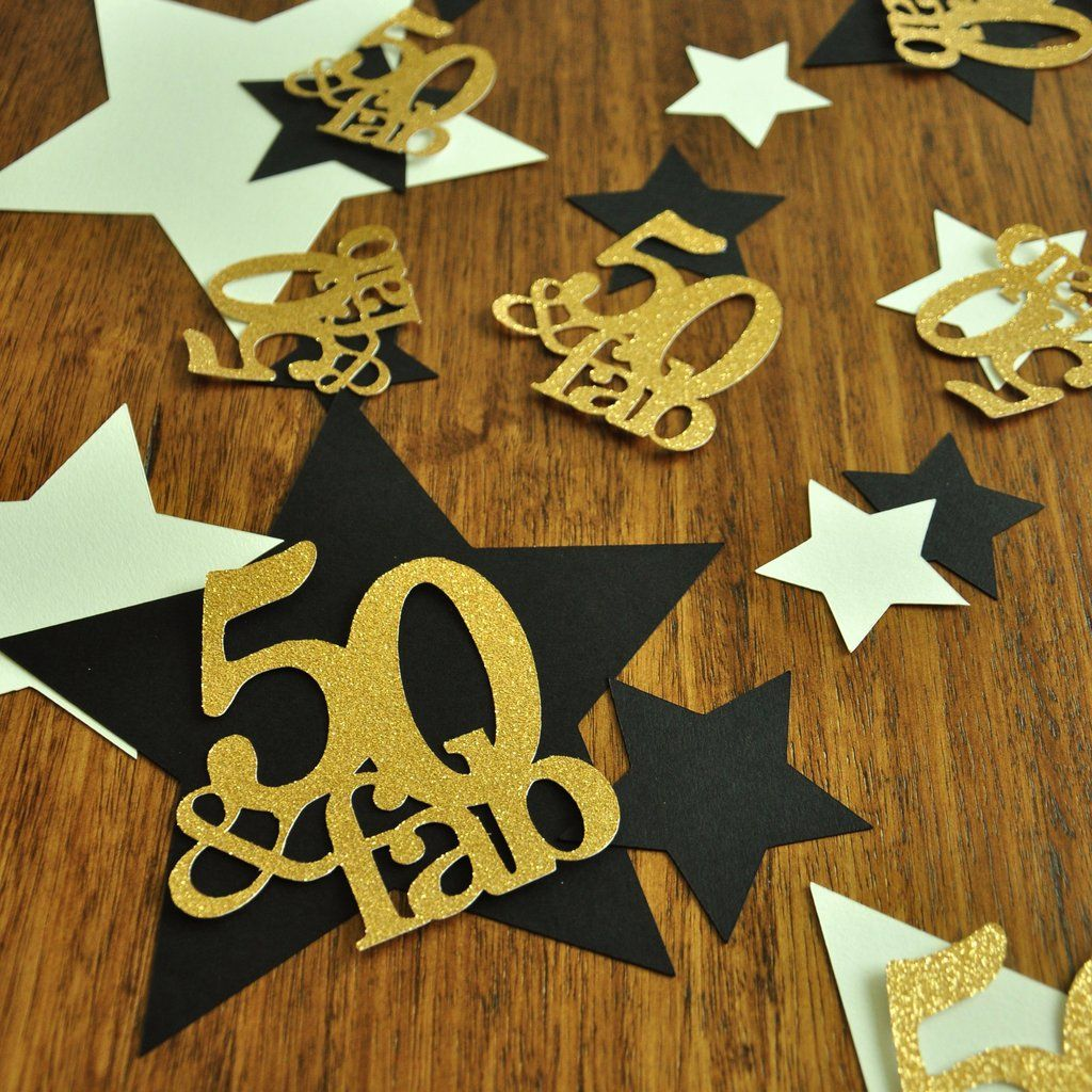 50th And Fab: 50 And Fabulous. 50th Birthday Decorations. Handcrafted In