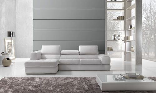 divano ad angolo in pelle moderno antea maxdivani max divani ... - In Pelle Bianca Divano Ad Angolo Design
