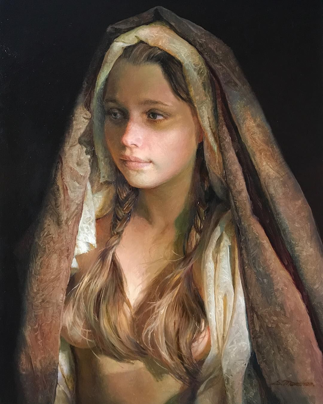 Exquisite Realistic Paintings By Russian Artist Serge Marshennikov Female Art Painting Russian Artists Realistic Paintings