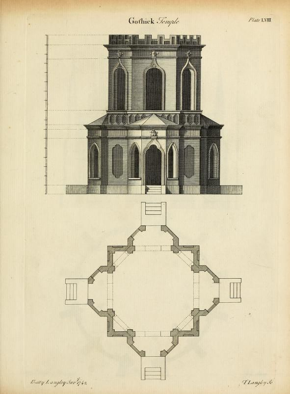 Gothic architecture, improved by rules and proportions : in many grand designs of columns, doors, windows, chimney-pieces, arcades, colonades, porticos, umbrellos, temples and pavillions &c. : with plans, elevations and profiles : Langley, Batty, 1696-1751 : Free Download, Borrow, and Streaming : Internet Archive