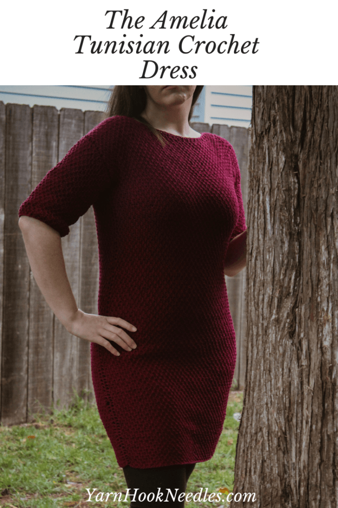 Learn How To Make This Tunisian Crochet Dress With This Pattern #crochetdress