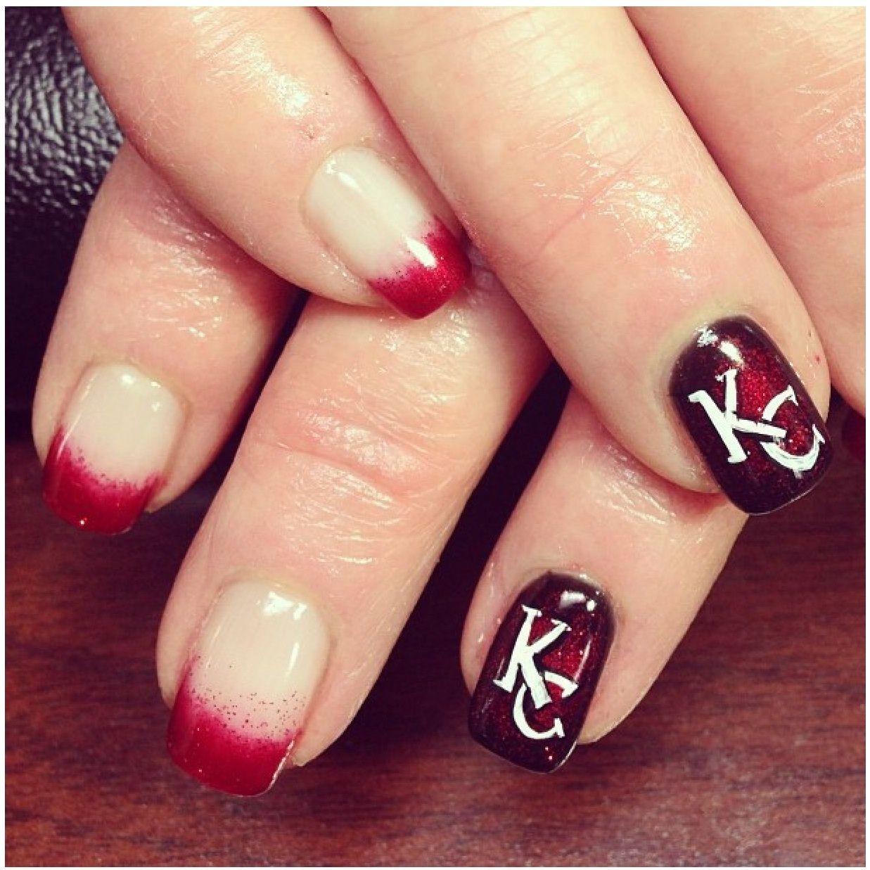 Kansas City chiefs nails! | nAiLs nAiLs nAiLs | Pinterest | Kansas ...