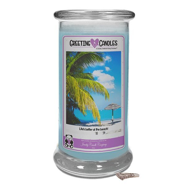 Life's Better At The Beach | Jewelry Greeting Candle
