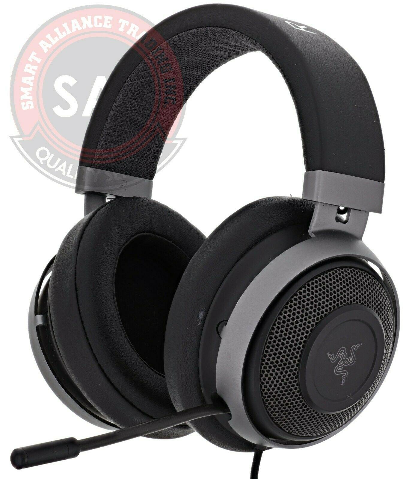 Razer Kraken 7 1 V2 Gaming Headset For Pc Ps4 Xbox One Gunmetal Grey Used Gaming Headphones Ideas Of Gaming Headphones Gaming In 2020 Headset Razer Gaming Headset