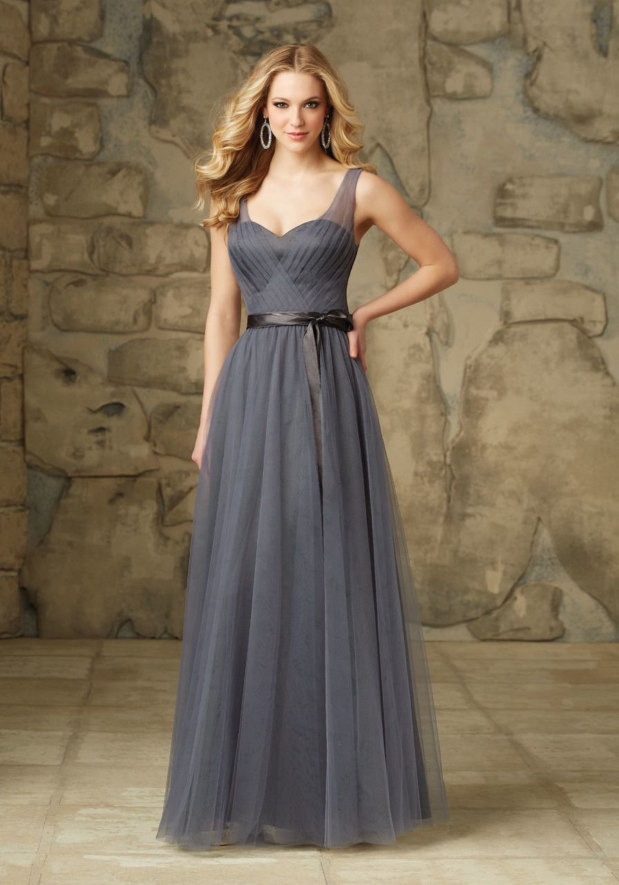 003 tulle bridesmaids dress with v neck and a satin sash satin 003 tulle bridesmaids dress with v neck and a satin sash ombrellifo Choice Image