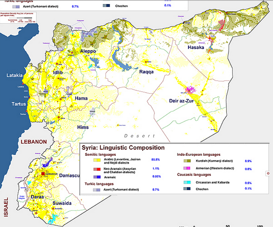 Syria Ethnic Composition percentages M Izady 19972012 Syria