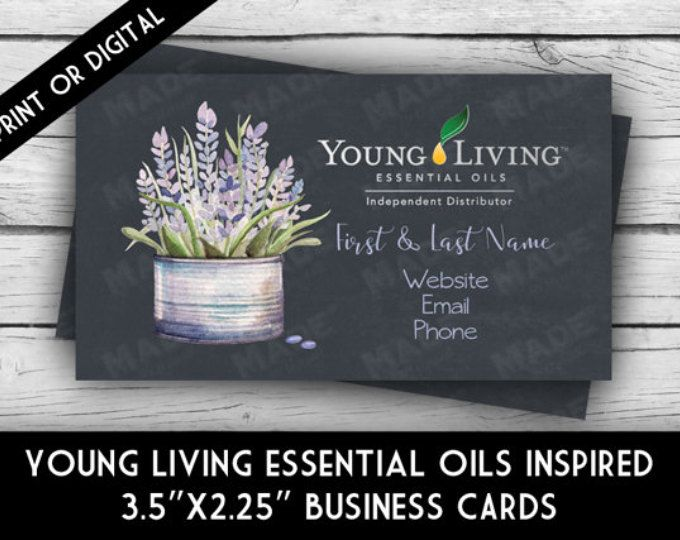 Young living essential oils lavender business card printed young living essential oils lavender business card printed marketing tools printable business stationery calling cards direct sales colourmoves