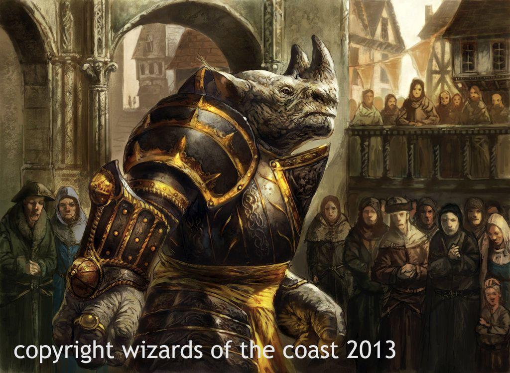 Stonehorn Dignitary by Dave-Kendall.deviantart.com on @DeviantArt | Fantasy  beasts, Mtg art, Fantasy dragon