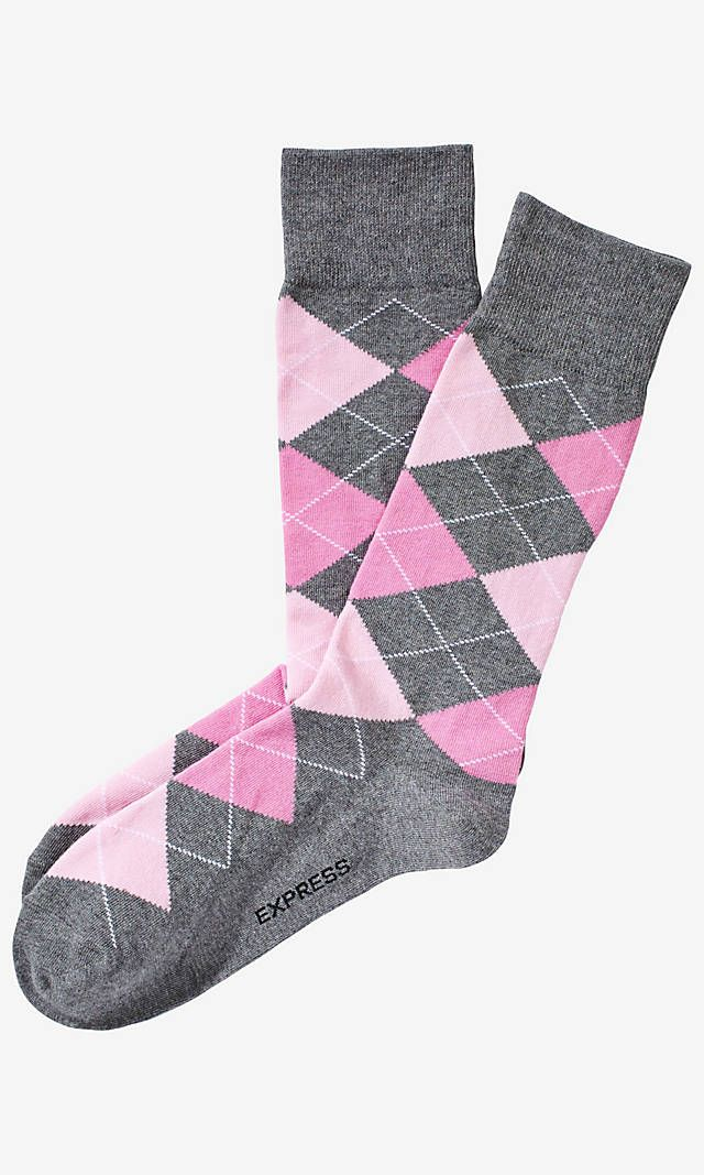 Argyle Dress Socks Miami From Express With Images Mens Pink