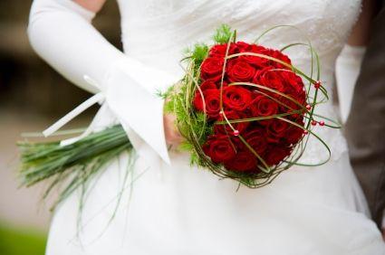 ramos de novia rojos 2 BODA Pinterest Wedding