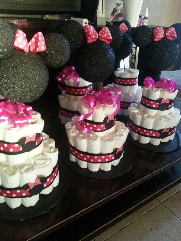 Minnie mouse centerpiece baby shower minnie mouse party for Baby minnie mouse decoration ideas