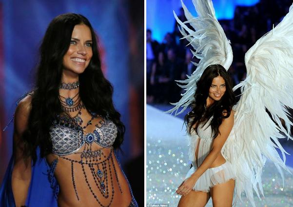 #AdrianaLima deslumbro en el desfile de #VictoriasSecret 2014.
