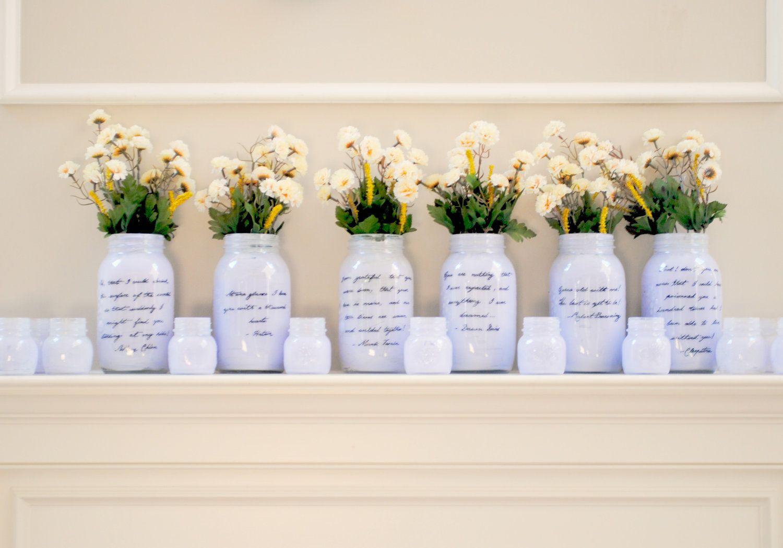 Things Brides Love Mason Jar Wedding Reception Decor Centerpieces Romantic Light Lilca Styles And Jars Purple