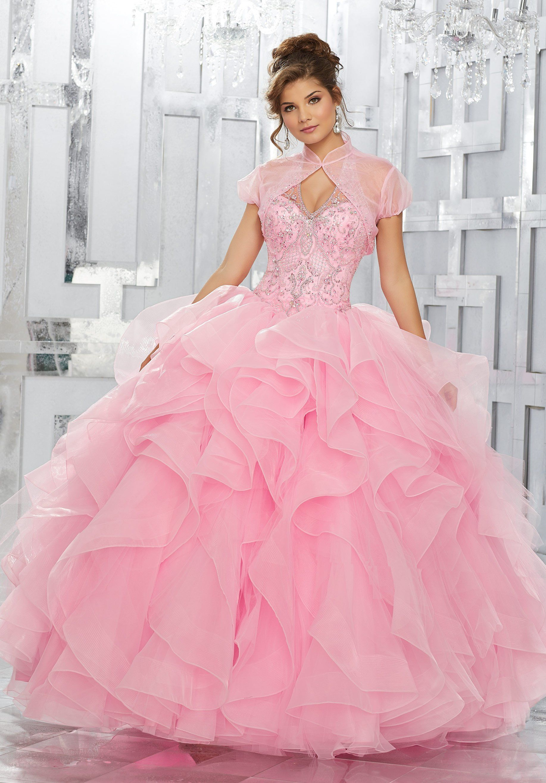 Beaded Halter Quinceanera Dress by Mori Lee Vizcaya 89144 | Pinterest