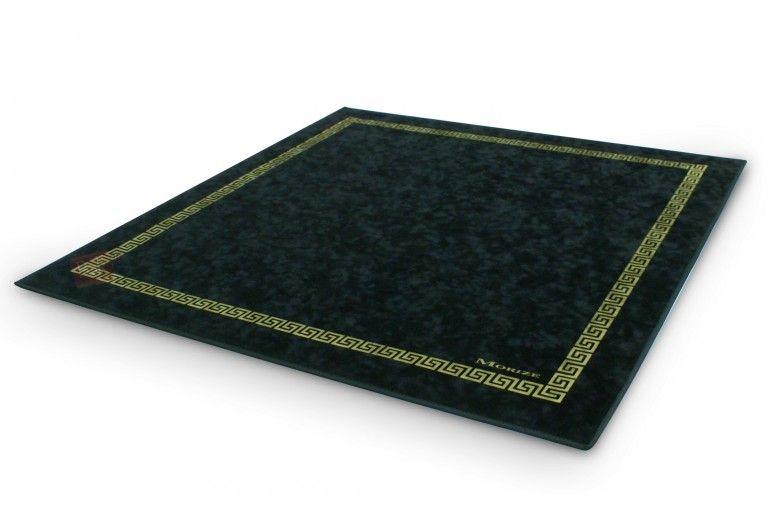 Tapis de poker Morize 77x77 (noir) - Pokeo.fr - Tapis de jeu haut de gamme Morize Chavet antidérapant en suédine noire 75x75cm. Pour vos parties de poker ou de bridge.